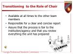 transitioning to the role of chair1