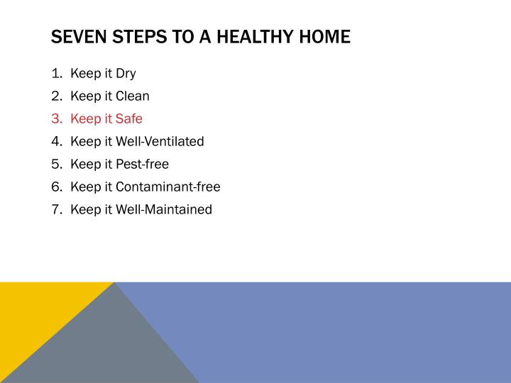 Seven steps to a healthy home