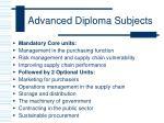 advanced diploma subjects