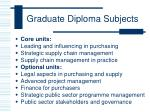graduate diploma subjects