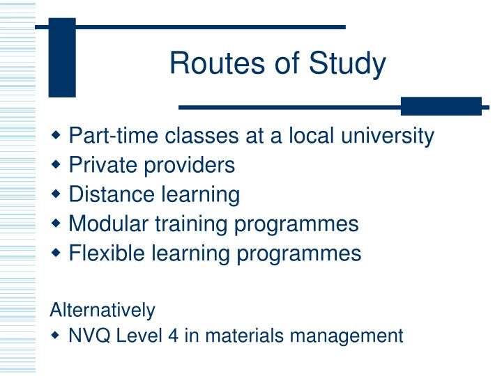 Routes of Study