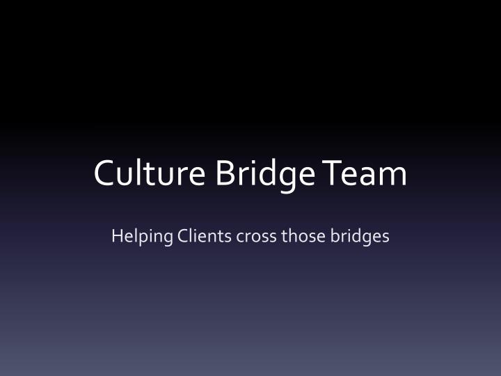 Culture bridge team