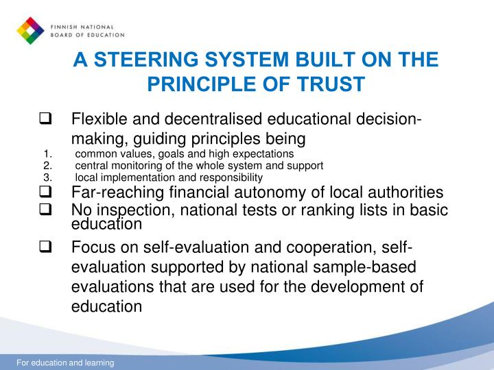 A STEERING SYSTEM BUILT ON THE PRINCIPLE OF TRUST