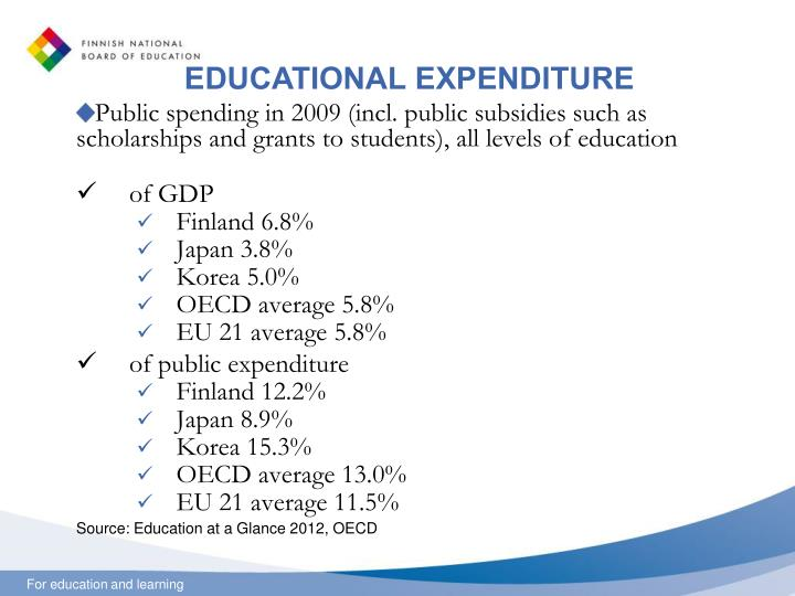 EDUCATIONAL EXPENDITURE