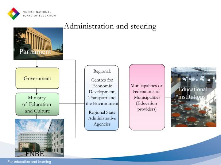 Administration and steering