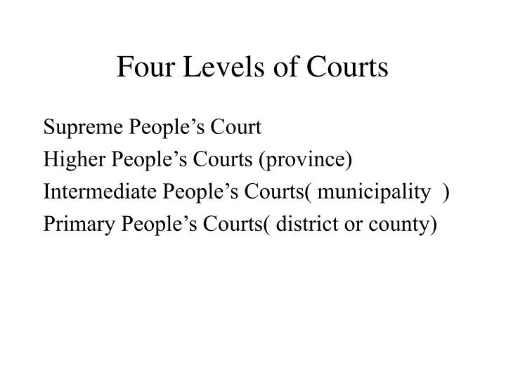 Four Levels of Courts