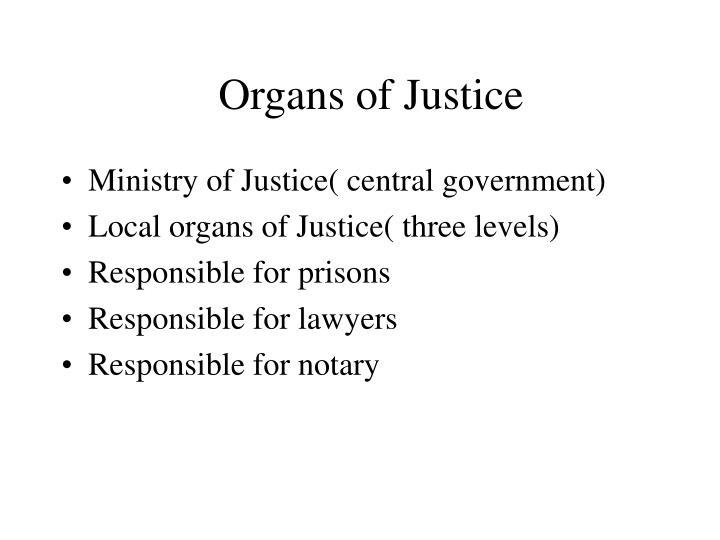 Organs of Justice