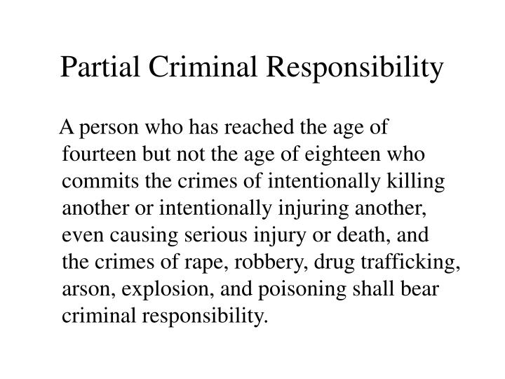 Partial Criminal Responsibility