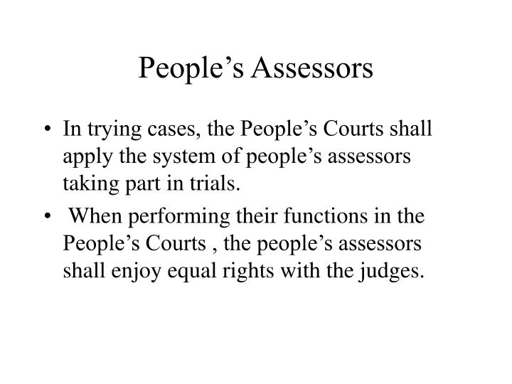 People's Assessors