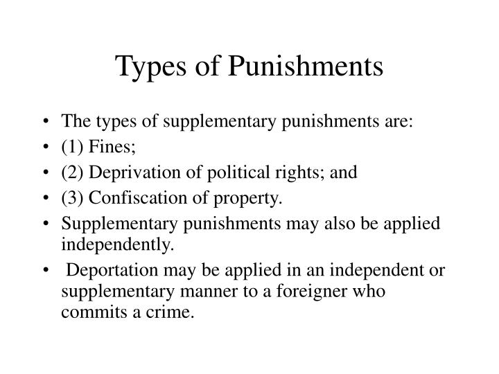 Types of Punishments
