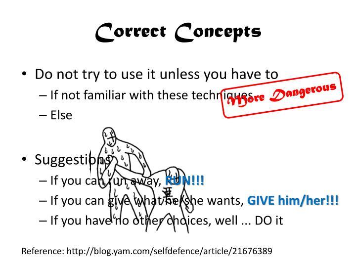 Correct Concepts