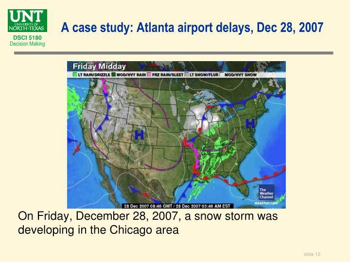 On Friday, December 28, 2007, a snow storm was developing in the Chicago area