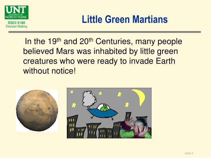 Little Green Martians