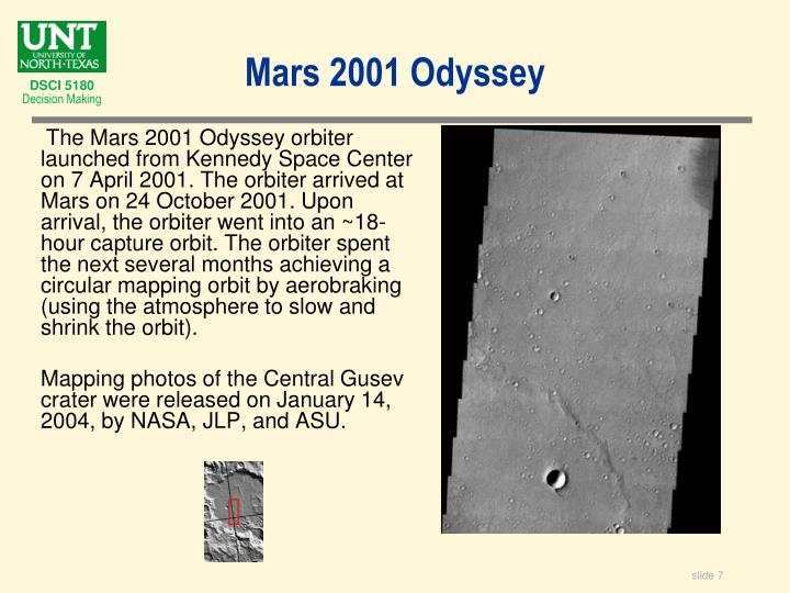 Mars 2001 Odyssey