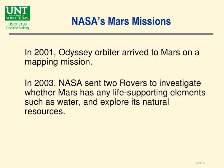 NASA's Mars Missions