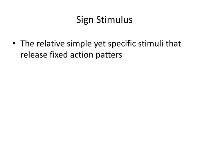 Sign Stimulus