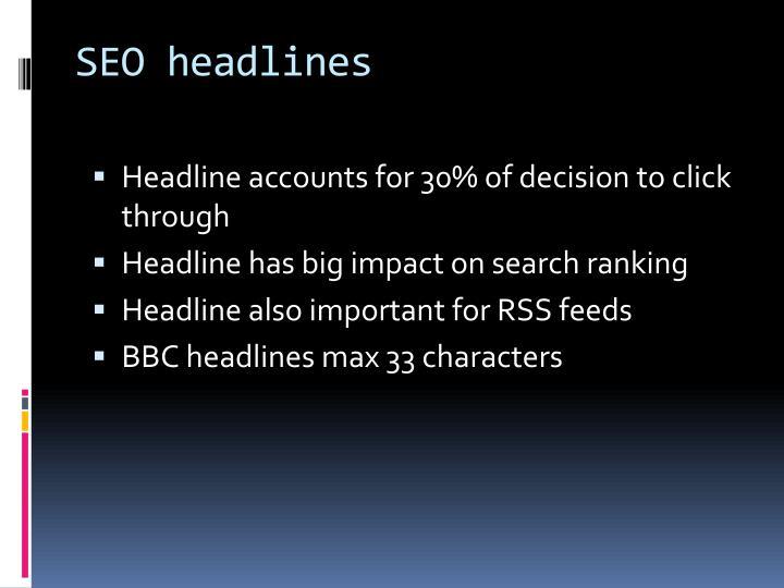 SEO headlines