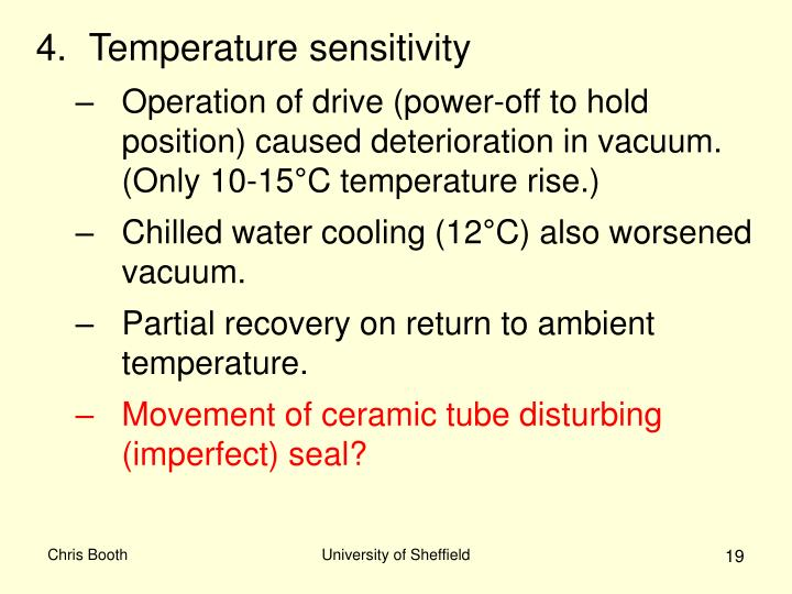 Temperature sensitivity