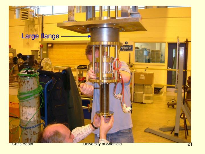 Large flange
