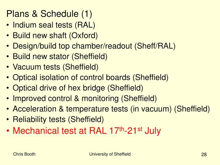 Plans & Schedule (1)