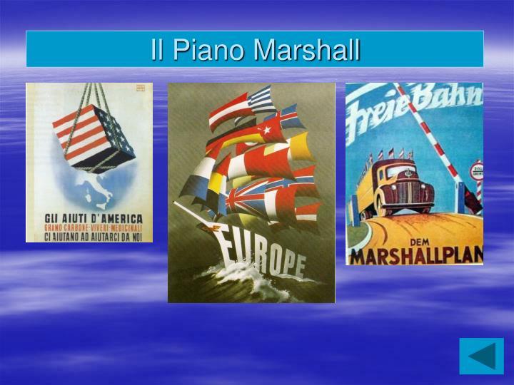 Il Piano Marshall