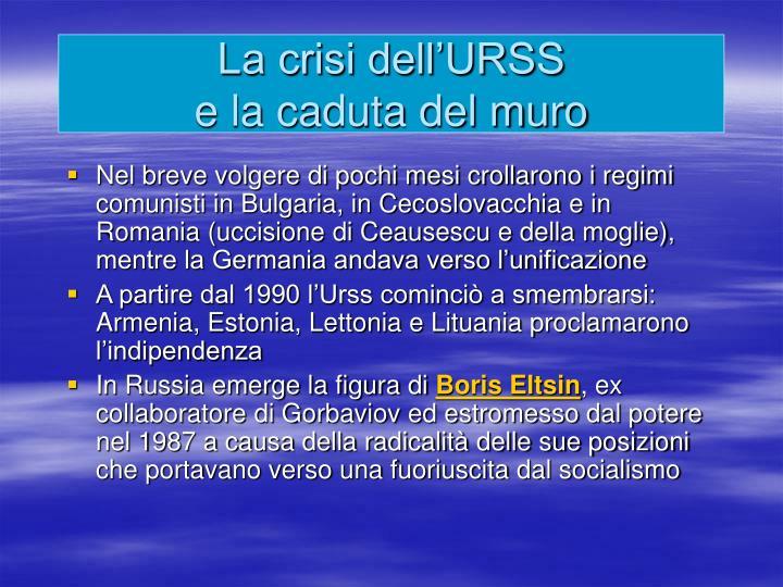 La crisi dell'URSS