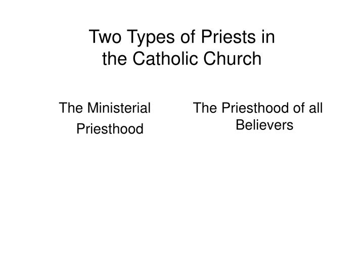 The Ministerial Priesthood