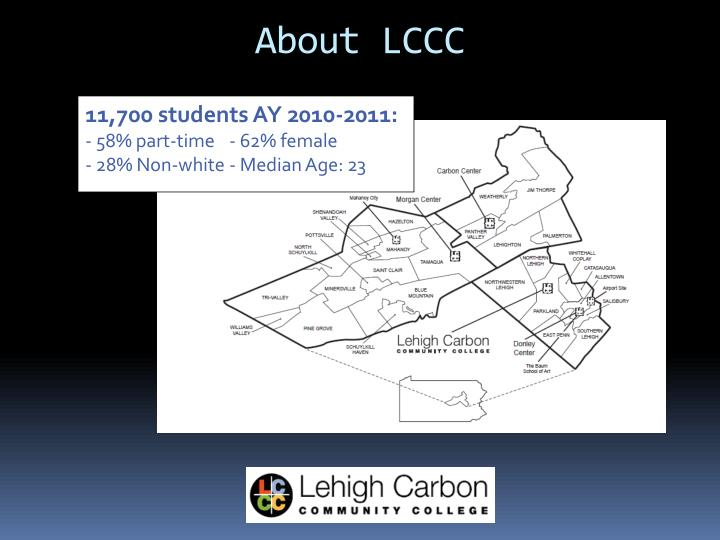 About LCCC