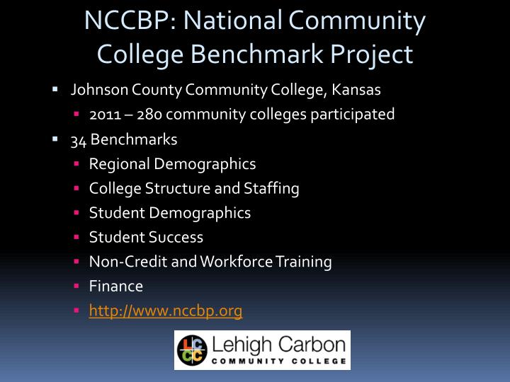 NCCBP: National Community College Benchmark Project
