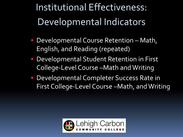 Institutional Effectiveness: