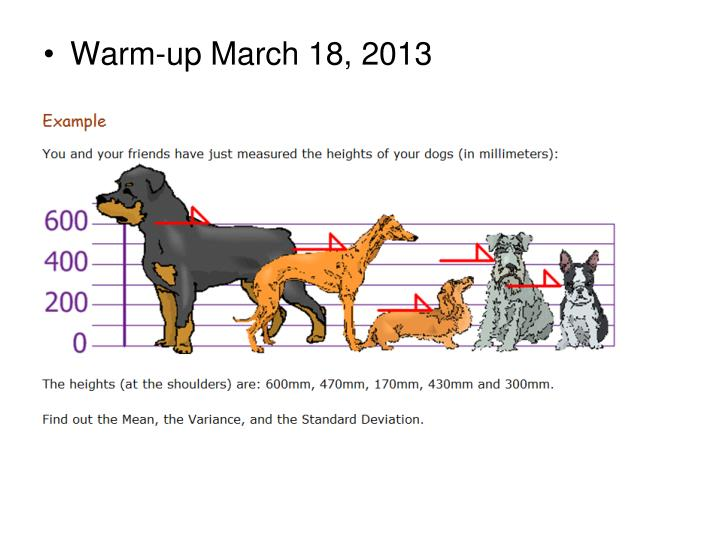 Warm-up March 18, 2013