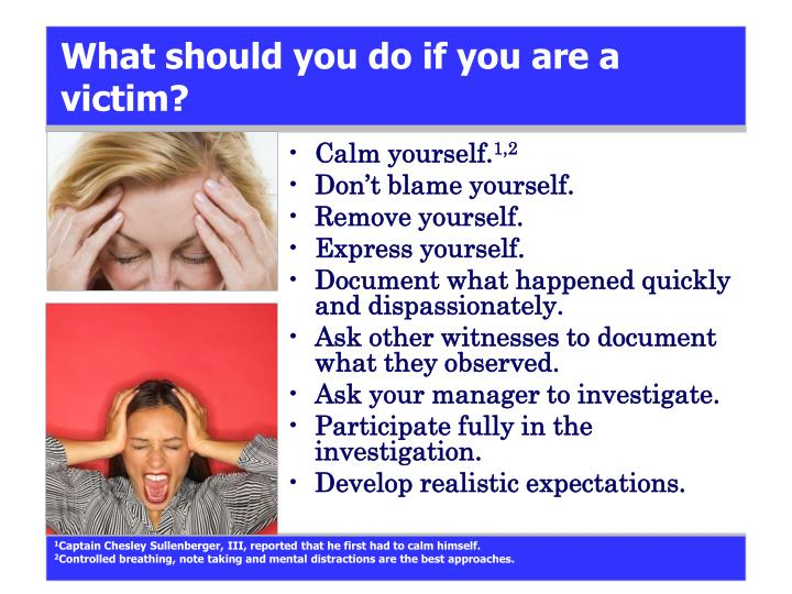 What should you do if you are a victim?