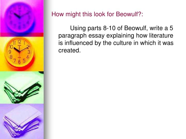 How might this look for Beowulf?: