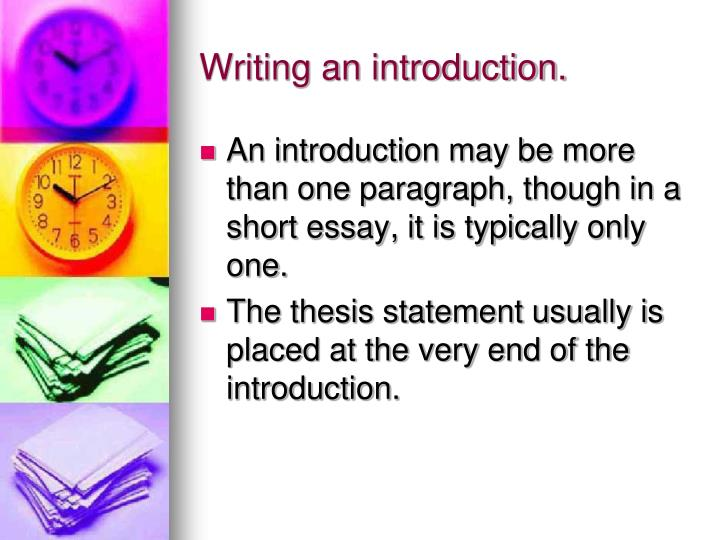 Writing an introduction.