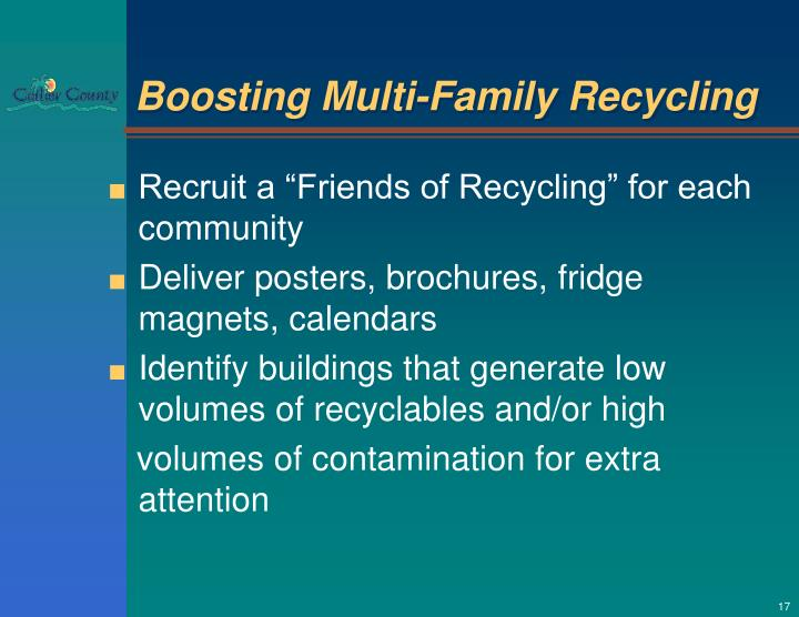 Boosting Multi-Family Recycling