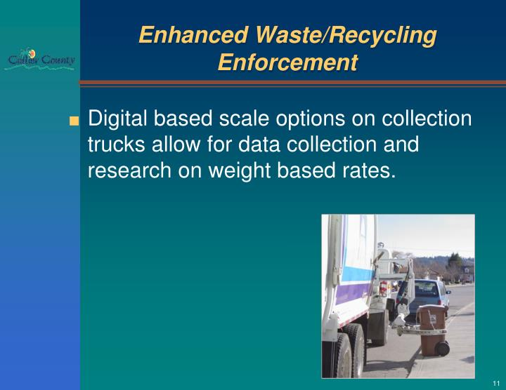 Enhanced Waste/Recycling Enforcement