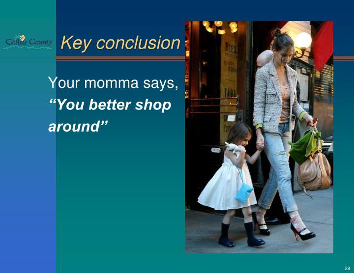 Key conclusion