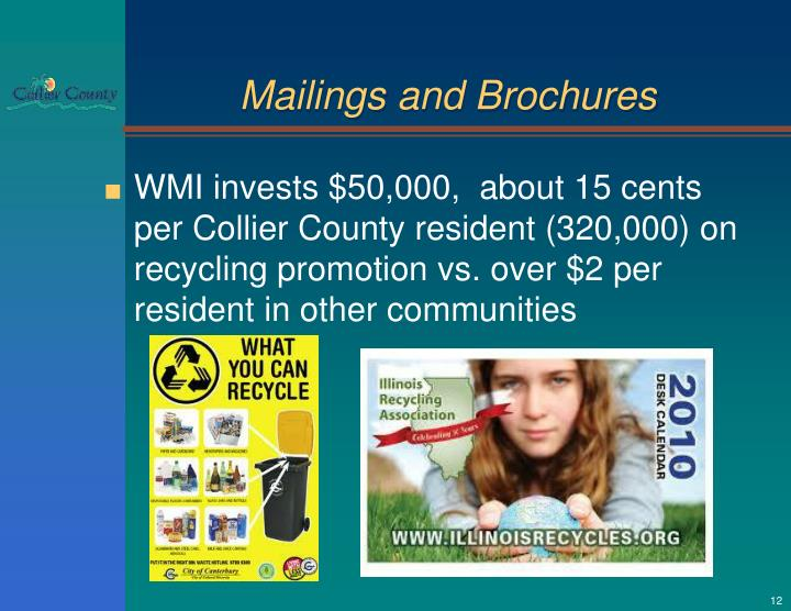 Mailings and Brochures