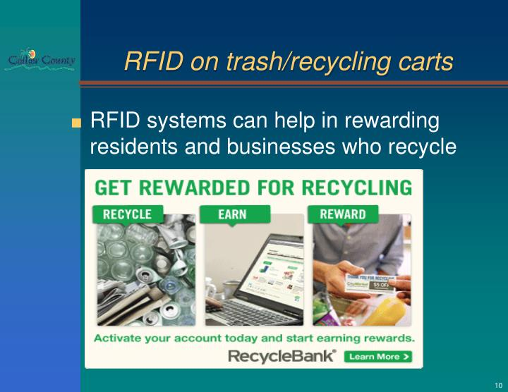 RFID on trash/recycling carts