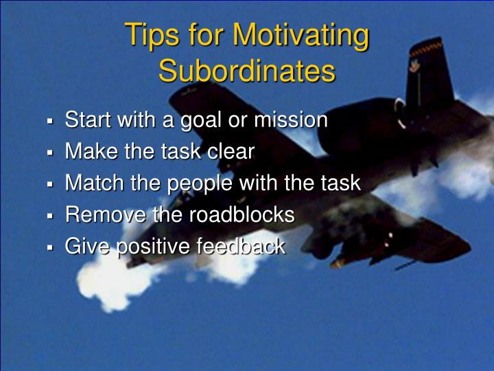 Tips for Motivating Subordinates