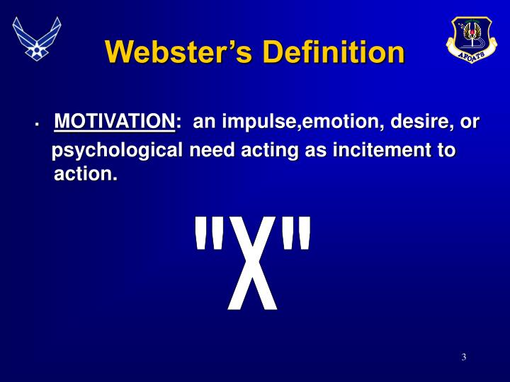 Webster's Definition