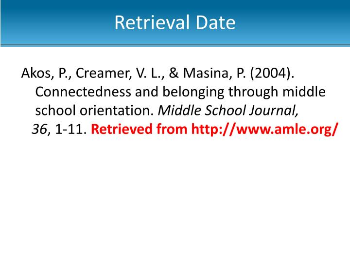 Retrieval Date