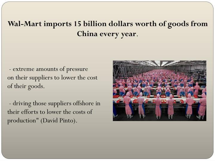 Wal-Mart imports