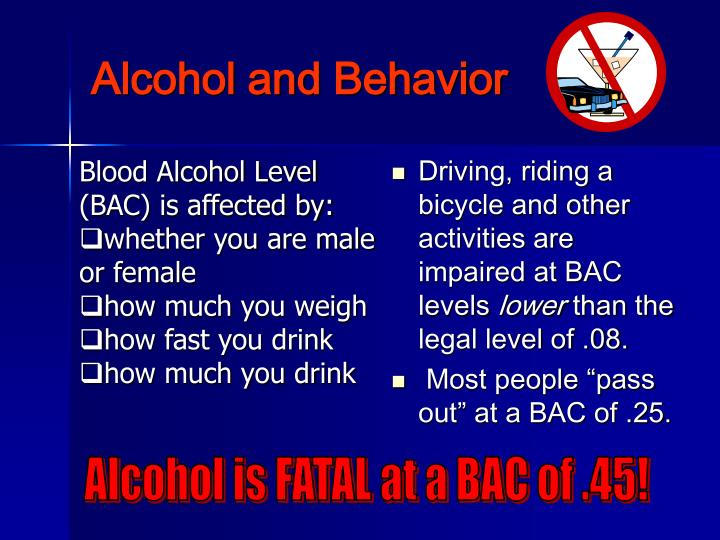 Alcohol and Behavior