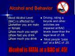 alcohol and behavior