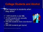 college students and alcohol