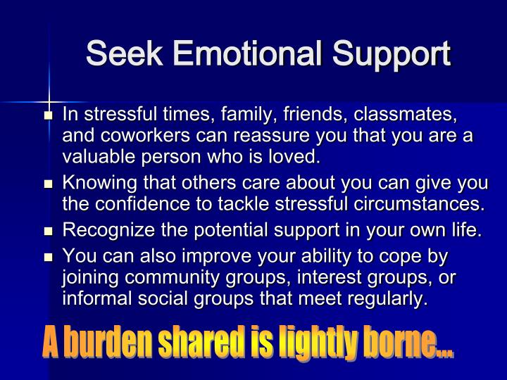 Seek Emotional Support