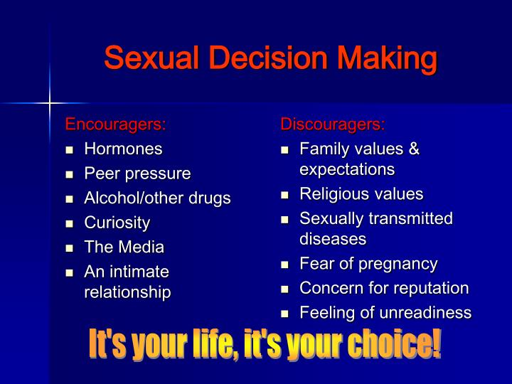 Sexual decision making