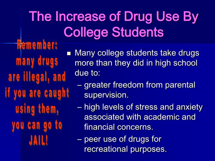 The Increase of Drug Use By College Students