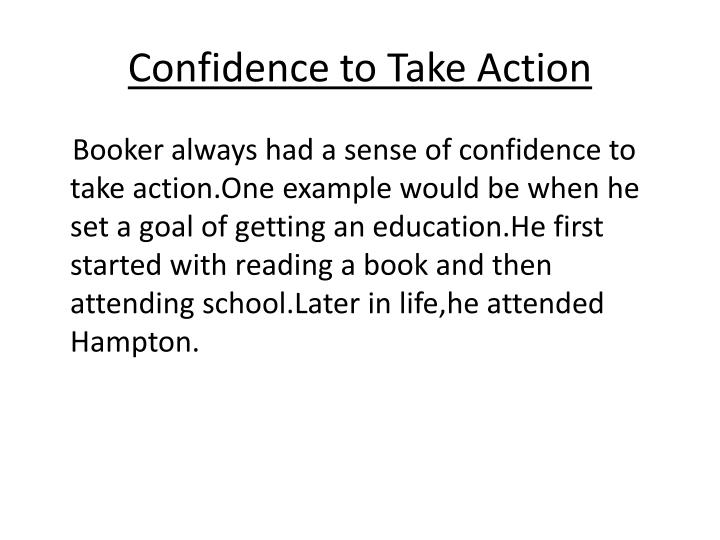 Confidence to Take Action